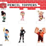 wreck it ralph pencil toppers