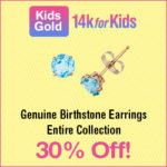 14k for Kids Birthstone Earrings Are a Great Gift For Christmas