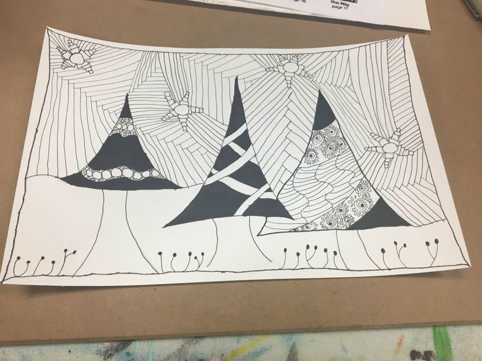 Zentangle Fun at Creative Arts in Enid, Oklahoma