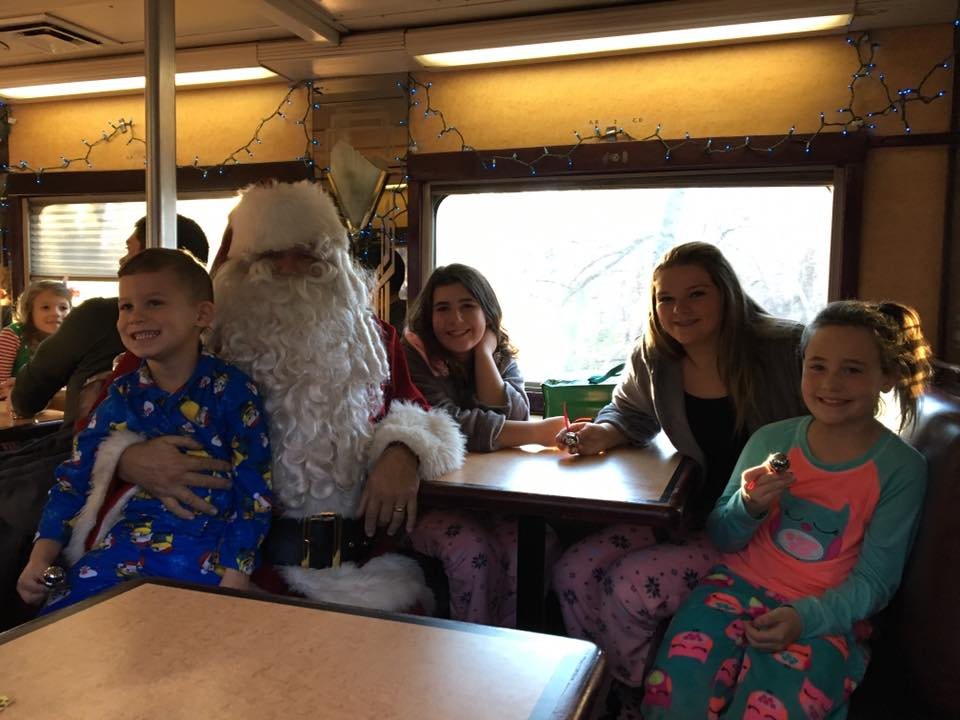 Polar express on the eastern flyer in stillwater oklahoma according