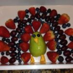Thanksgiving Turkey Fruit and Veggie Trays